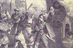 Από το εξώφυλλο: Λιθογραφία του N. Charlet, Παιδιά παίζουν τον πόλεμο Ελλήνων και Τούρκων. Painting, Painting Art, Paintings, Painted Canvas, Drawings