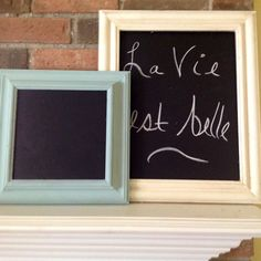 Chalkboard frame, wood, chalk paint, wall hanging, cottage, French country,  custom color also.25