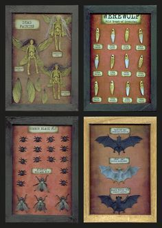 DIY Cheap, Easy & Creepy Specimen Shadow Boxes Tutorial with Free Labels Printable from Seeing Things here.I have posted quite a few tu...
