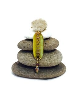 Destiny Rock Cairn Zen Garden Course of by CedarwoodCreations