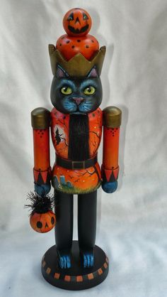 Black Cat Nutcracker!  Now, there's something that you don't see every day--
