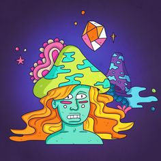 Freaks serie. #psychedelic #freaks #serie #artwork #keuj #cartoon #illustrator #illustration #art #sketch #doodle
