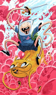 Adventure Time Gallery piece for an Adventure Time themed show at the OhNoDoom! Gallery in Portland, OR. By Logan Faerber