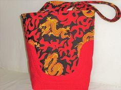I love this red Foo Dog Bag!  #Knitting #knittingTote #knittingBag  #FooDog #foodogBag #LargeredTote  #Quiltedtote #CarryAll  #CrochetBag #HandBag #redpurse @Sewnsewsister http://etsy.me/2DHJtsn via @Etsy