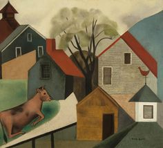 Cow in Pasture, 1926. Peter Blume