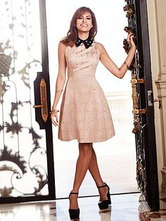 Shop Eva Mendes Collection - Maria Jacquard Dress - Embellished Collar. Find your perfect size online at the best price at New York & Company.