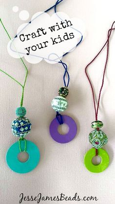 Easy Washer Necklace Project, fun for you and your kids