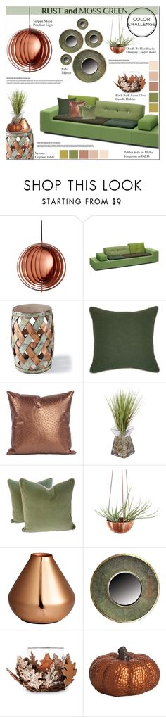 """Color Challenge: Moss Green and Rust"" by asteroid467 ❤ liked on Polyvore featuring interior, interiors, interior design, home, home decor, interior decorating, VerPan, Polder, Grandin Road and Villa Home Collection"