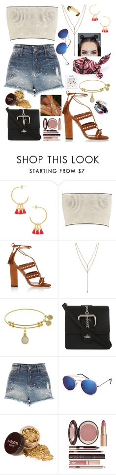 """""""Coachella"""" by sariokay ❤ liked on Polyvore featuring Gorjana, Calvin Klein Collection, Aquazzura, Vince Camuto, Amanda Rose Collection, Vivienne Westwood, River Island, H&M, Charlotte Tilbury and Jennifer Fisher"""