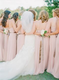 Blush pink bridesmaid dresses via Wedding Sparrow Bridesmaid Dresses 2014, Blush Pink Bridesmaids, Bridesmaids And Groomsmen, Bridesmaid Flowers, Wedding Bridesmaids, Wedding Dresses, Prom Dresses, Blush Dresses, Formal Dresses