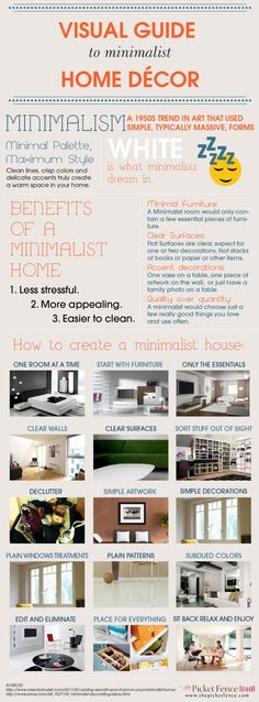 I am FAR from a minimalist, but these tips could help us ease up on the clutter: Minimalist Home Decor | Morning Star Builders