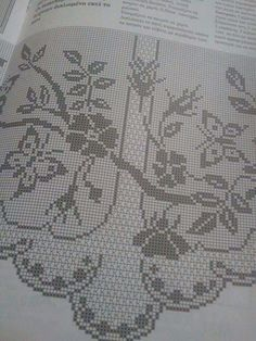 This Pin was discovered by Eka Annie's Crochet, Crochet Patterns, Filet Crochet Charts, Crochet Curtains, Bargello, Doilies, Art Nouveau, Vintage World Maps, Diy And Crafts