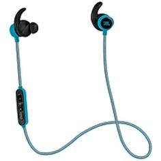JBL Reflect Mini Lightweight In-Ear Sport Headphones - Stereo - Teal - Mini-phone - Wired - 10 kHz - 22 kHz - Earbud - Binaural - In-ear