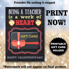 This item is unavailable Teachers Day Card, Teacher Cards, Teacher Gifts, Happy Valentines Day, Kids Valentines, Homemade Valentines, Valentine Wreath, Valentine Ideas, Gifts