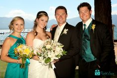 Surrounded by those closest to them. #laketahoewedding #laketahoeweddingphotography  #laketahoebeachwedding  #wedding #marriage #romance #couple #bouquet  http://www.rachellevinephoto.com/