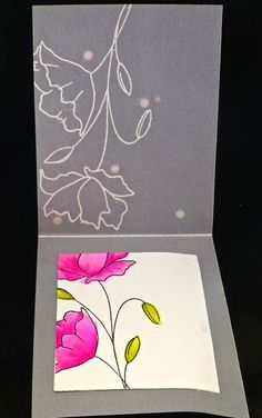 Here is another card I created for my Clear and Sheer class. This is a case copy of this  card by Lai-Yoke. I left off the sent...