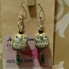 Earrings Glass owls Accessories