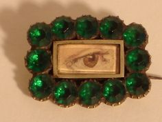 """victorian eye brooch   extremely rare""""lovers eye brooch- early victorian-rare"""