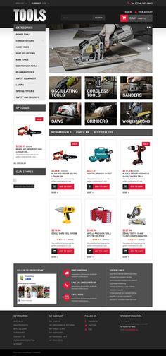 Tools & Equipment Responsive PrestaShop Theme New Screenshots BIG