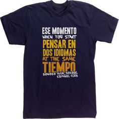 SPANISH DREAM Spanish Club T-shirt Tee design