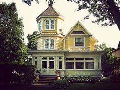Love the 3 level turret and that it's all on a porch. I would make the top level of the turret a sleeping porch.