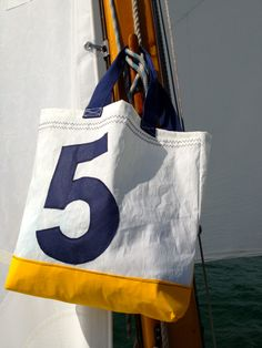 sail bag made of recycled sailcloth by Rough Element http://RoughElement.dawanda.com www.etsy.com