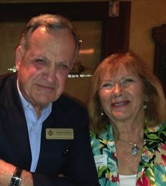 Sarasota Sister City VP for Business & Economic Development Chuck Steilen with Virginia Stephens at the January 2013 Sister Cities Meet & Greet at Ocean Blues on Hillview in Sarastoa