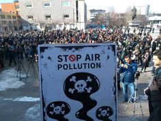 """Hundreds of citizens yesterday protested against the high level of air pollution that in the last years has been very often reported as """"very unhealthy"""" and """"hazardous"""" which is the highest category of pollution determined by the Us Consulate Air Quality Index. The main factor are the Obiliç Power plants the circulation of old vehicles the household heating based on coal and wood. Thanks to these people's movements citizens are more and more informed aware and active in asking their rights…"""