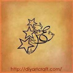 Stelle Tattoo EP 3 Illustrazioni Decorative Stile Fantasy