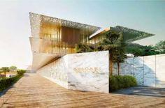 Rendering of Bulgari Hotel, Dubai, opening in 2018 by architect Antonio Citterio