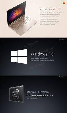 Original Xiaomi Mi Notebook Air Windows 10 13.3 Inch Intel Core i5-6200U Dual Core 8GB RAM Euro 828,° 256GB PCIE SSD FHD 1920*1080 Bluetooth 4.1 Laptop sale online store at wholesale price.US/