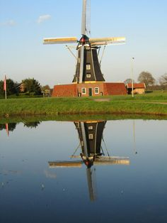 Molen, The Netherlands Netherlands Windmills, Tilting At Windmills, Watercolor Pictures, Water Mill, Le Moulin, Covered Bridges, Alberta Canada, Delft, Thailand Travel