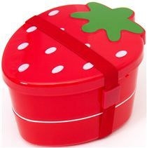 cute japanese red strawberry Bento Box lunch box