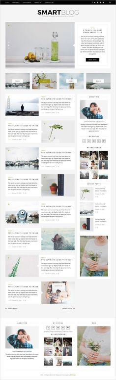SmartBlog is a clean & modern #PSD template for creative #blogging site #webdev with 7 homepage layouts download now➩ https://themeforest.net/item/smartblog-psd/18576417?ref=Datasata