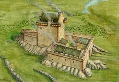 Smailholm Castle reconstruction by Andrew Spratt