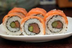 VERY Comprehensive recipe with step by step pictures! for Lox & asparagus sushi