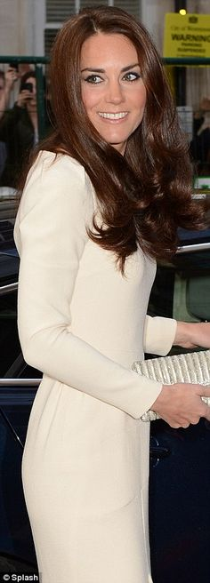 HRH The Duchess of Cambridge was at Claridge's hotel in Mayfair for a meeting of the Thirty Club