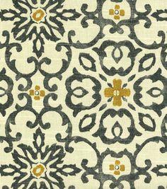 Home Decor Print Fabric- HGTV HOME Souvenir Scroll Fog & home decor print fabric at Joann.com