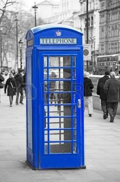 Picture of Traditional old style UK red phone box in London. stock photo, images and stock photography. Color Splash, Communication Images, Cute Tumblr Wallpaper, Telephone Booth, How To Double A Recipe, Living At Home, Uk Fashion, Blue Aesthetic, Photo Colour