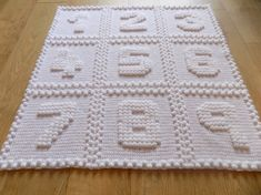 Numbers One Piece Baby Blanket Crochet PATTERN by Peach.Unicorn