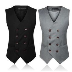 Men's Clothing  British Style Slim Colete Masculino Cotton Double Breasted Sleeveless Jacket Waistcoat Men Suit Vest-in Vests from Men's Clothing & Accessories on Aliexpress.com | Alibaba Group
