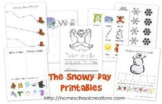 Free early learning printables for the book The Snowy Day by Ezra Jack Keats. Focusing on skills for preschool to kindergarten. Created by Homeschool Creations.
