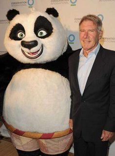 FOR SOME STRANGE REASON I FIND THE IDEA OF HARRISON FORD WITH KUNG FU PANDA FUNNY.