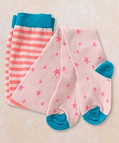 Take a look at this Matilda Jane Clothing Pink & Blue Paola Tights - Infant today! 7.99