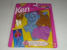 NEW ON CARD KEN MAGIC TALK CLUB FASHIONS SET NO 2234 MATTEL 1992 NOC VINTAGE #Mattel