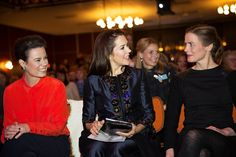 On March 8, 2016, Crown Princess Mary of Denmark gives a speech at the KVINFO Conference, as patron of Women Deliver 2016 in Copenhagen.