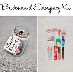 Diy Bridesmaid Emergency Kit Ideas Via Wedding Bags Survival Kits Bridal