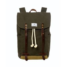 Waxed Canvas Backpack - Olive