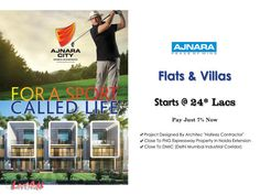 Buy Premium Flat in World Class Township 'Ajnara City' at Greater Noida (Wes Ajnara City Newly Upcoming Project in Greater Noida (West). You will experience the superb quality of ...