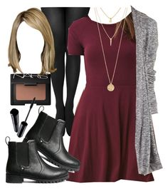 """""""Edgy Hanna Marin inspired outfit with requested dress"""" by liarsstyle ❤ liked on Polyvore featuring NARS Cosmetics, Forever 21, Charlotte Russe, H&M, Shiseido, women's clothing, women's fashion, women, female and woman"""